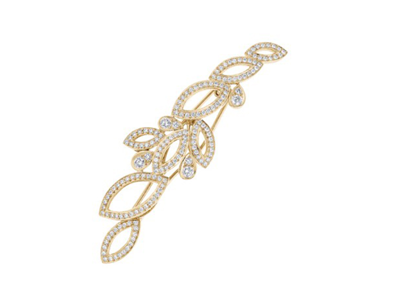 Harry Winston Lily Cluster - Diamond barrette in yellow gold