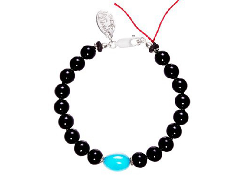 Aaron Jah Stone This bracelet with black tourmaline and turquoise is available at the Pop Up - CHF 425