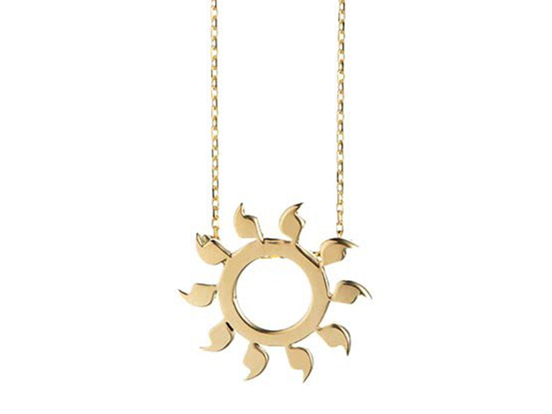 Rivka Nahmias You are my sunshine necklace mounted on yellow gold is available at the Pop Up - CHF 970