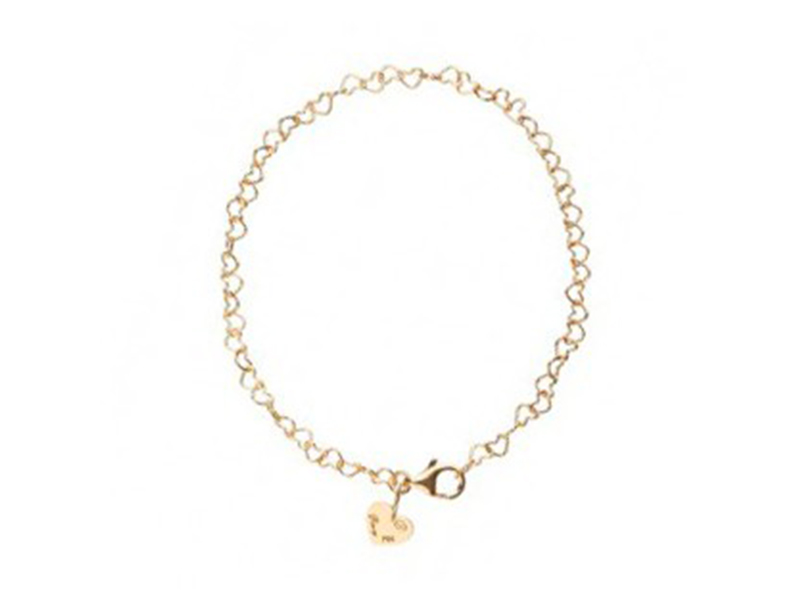 "Poiray This bracelet from ""Coeur"" collection mounted on yellow gold is available at the Pop Up - CHF 425"