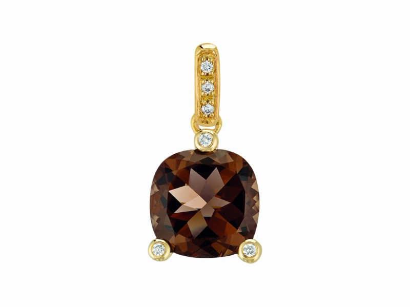 Poiray This Filles Antik pendant mounted on yellow gold with quartz fume and diamonds is available at the Pop Up - CHF 785