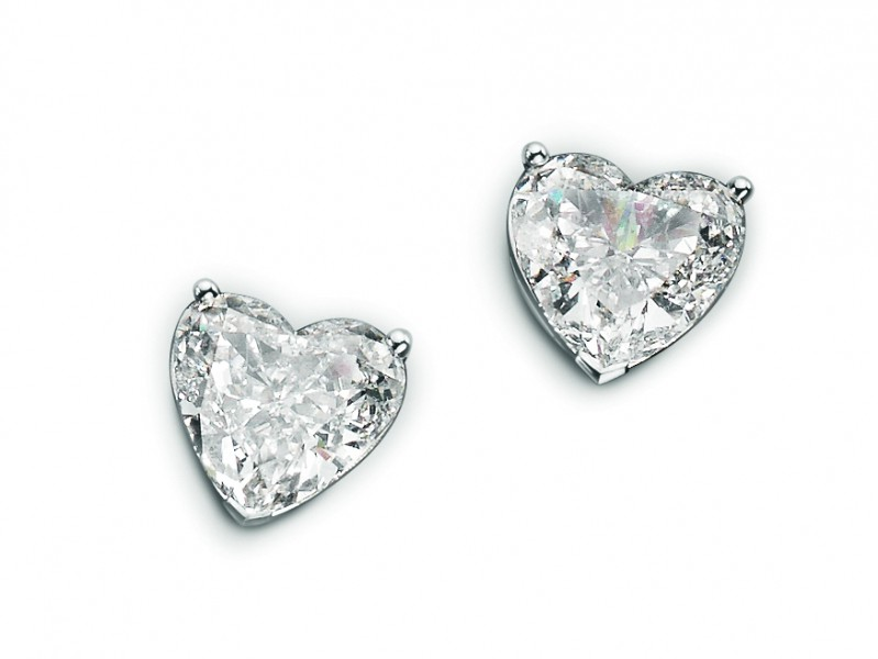Bucherer Diamond Heart Studs Classic yet timeless diamond studs