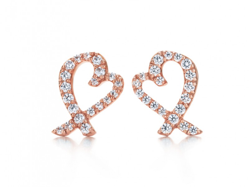 Tiffany & Co. Paloma Picasso Lovi Heart Studs Paloma Picasso famous hearts set as ear studs