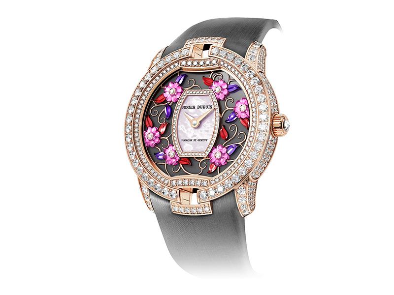 Roger Dubuis blossom velvet watch