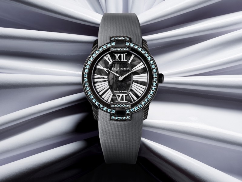 Roger Dubuis black velvet watch picture