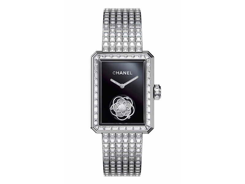 Chanel From Première collection - Flying tourbillon volant paved with diamonds
