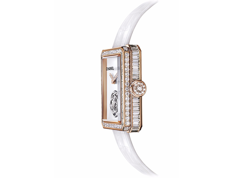 Chanel From Première collection - Flying tourbillon volant mounted on beige gold