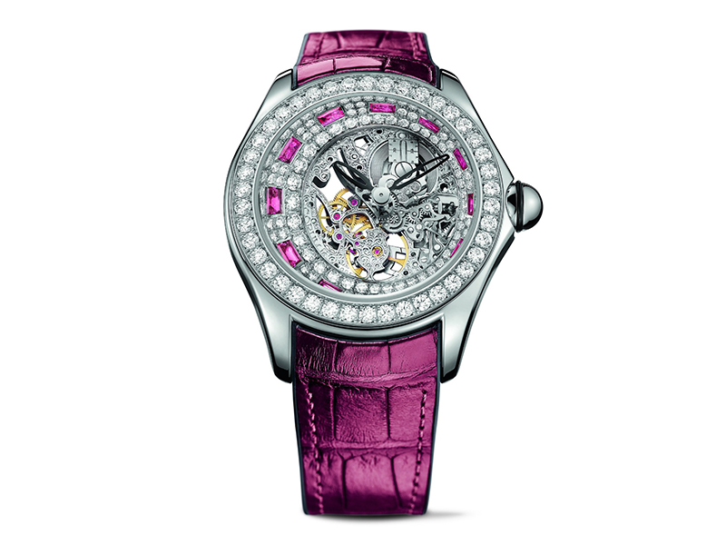 Corum From Heritage collection - Heritage bubble high jewellery skeleton