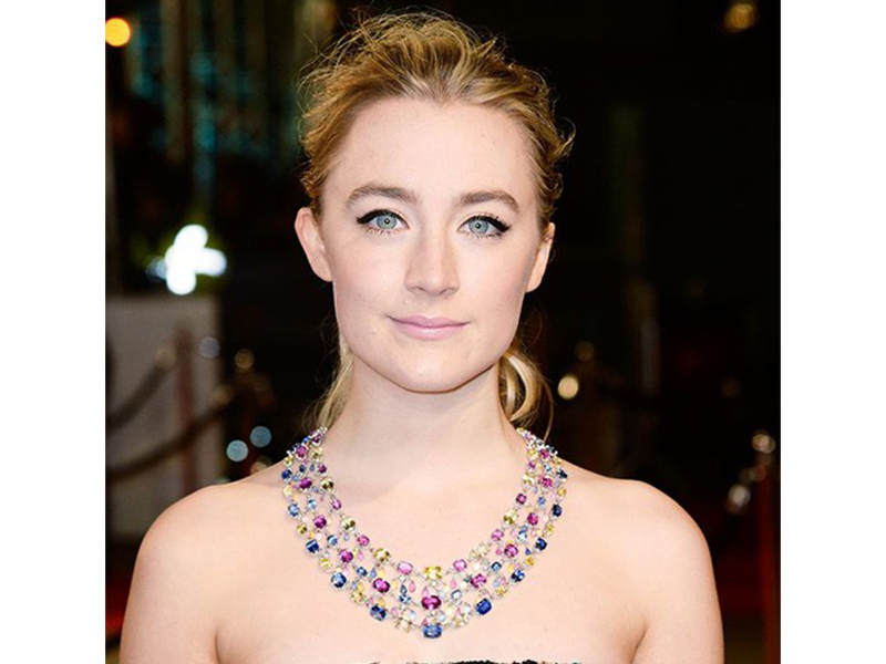 Chopard Saoirse Ronan wore coloured sapphires necklace at the Bafta.