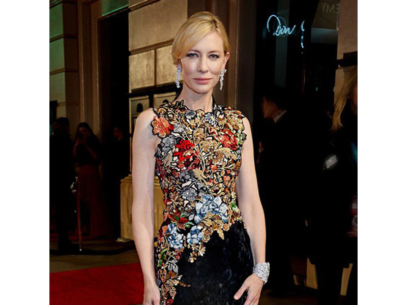 Tiffany & Co Cate Blanchett stunned in Tiffany diamonds from the 2016 Tiffany Blue Book Collection at the Bafta.