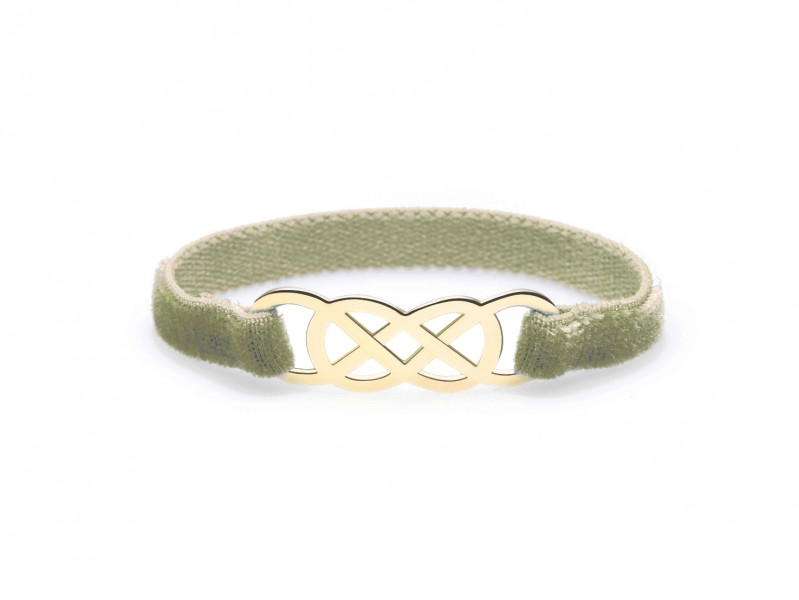 Infinity by Victoria Ibiza Yellow Gold - Khaki Velvet is available at the Pop-Up, CHF 280