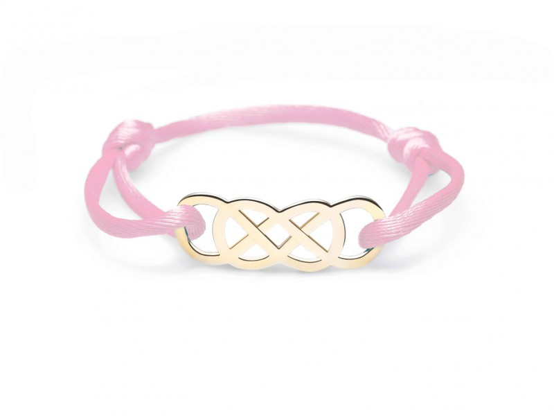 Infinity by Victoria Ibiza Yellow Gold - Baby pink is available at the Pop-Up, CHF 280