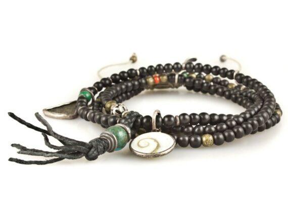 M.Cohen Stacked mini horn multi charm detail bracelet