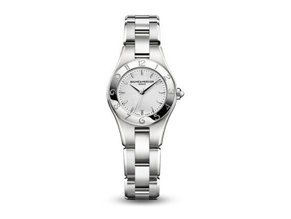 Baume et Mercier - Linea 10009 - Women's watch mounted on steel with a quartz movement and a polished and satin-brushed steel finition
