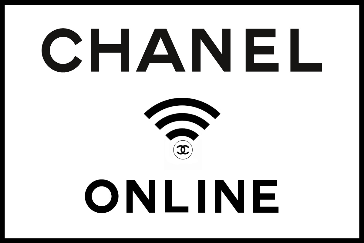 Chanel and wifi logo in black and white