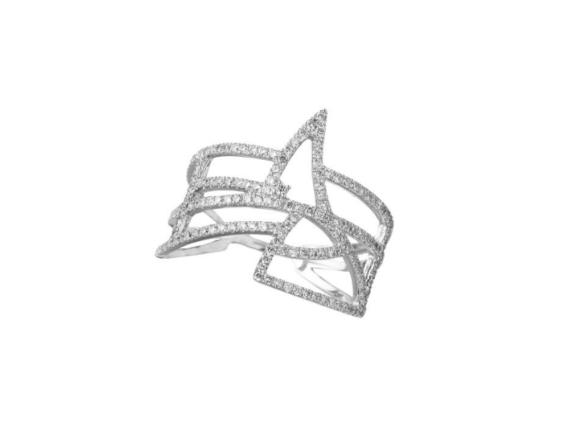 Goralska Coïncidence wedding band mounted on white gold set with 236 diamonds