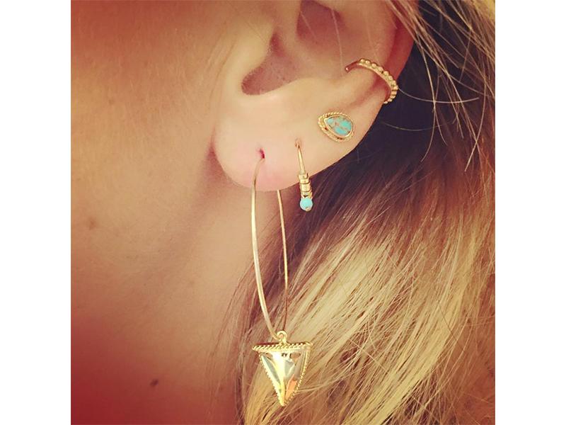 Luj Julie Parnet gold earrings