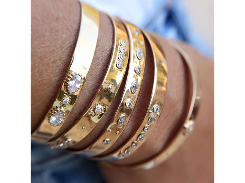 Luj Julie Parnet gold diamonds bracelet