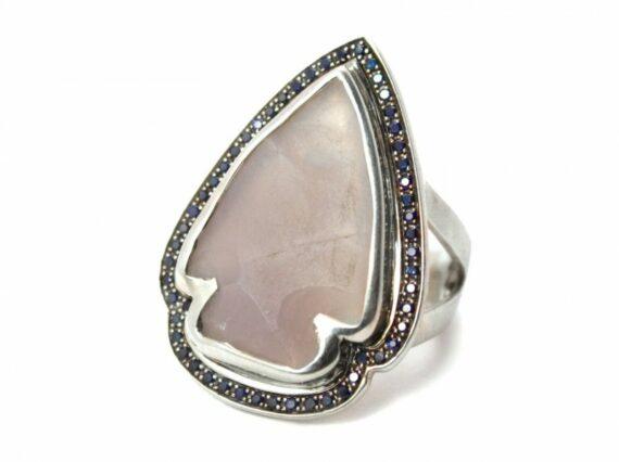 Pamela Love Jasper sapphire ring mounted on sterling silver