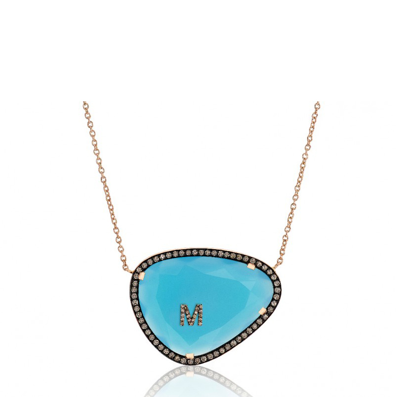 Christina Debs Hard Candy Initials necklace
