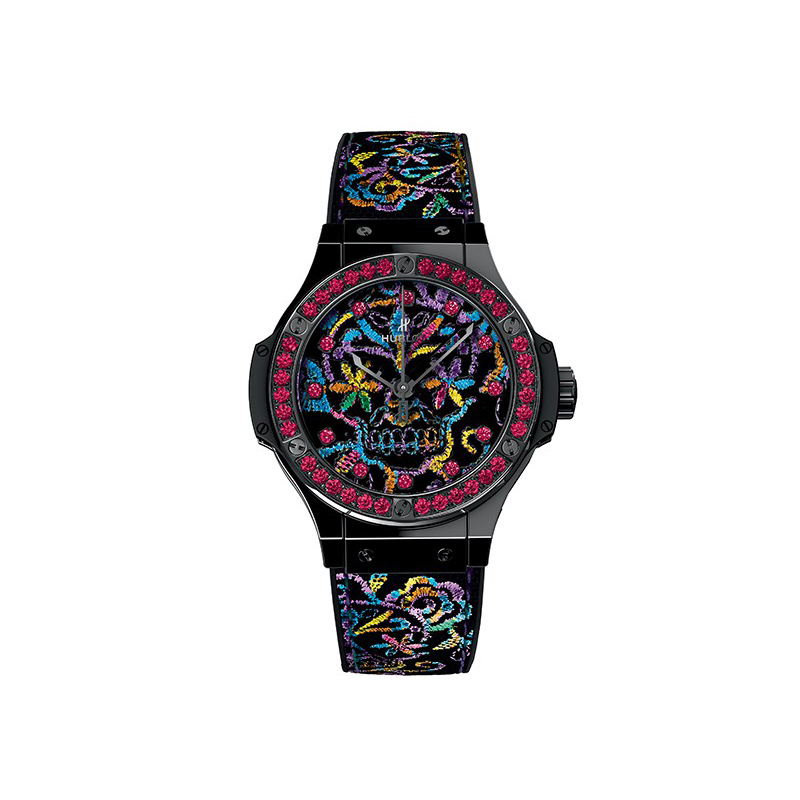 Hublot Big bang Broderie Sugar Skull Ceramic