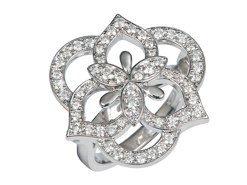 Vanessa Martinelli Arabian Nights Collection - Diamond ring mounted on white gold