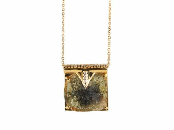 Rachel Boston Eye of the storm necklace mounted on gold with diamonds ~ GBP£ 5'010
