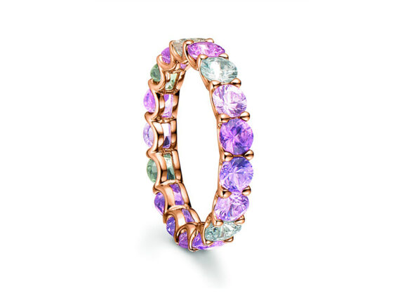 Bucherer - Pastello ring mounted on rose gold with sapphires