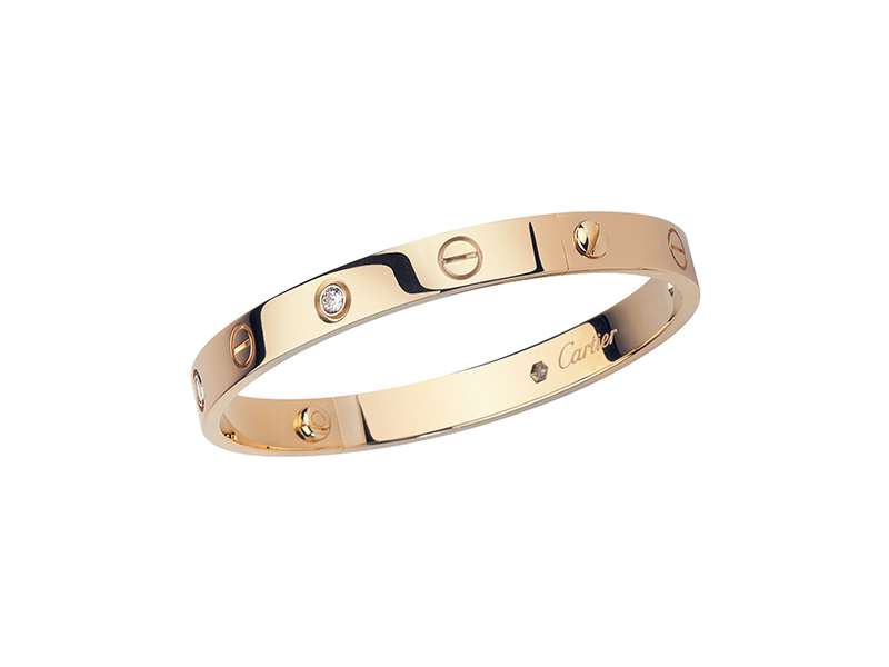 Cartier Love bracelet mounted on red gold