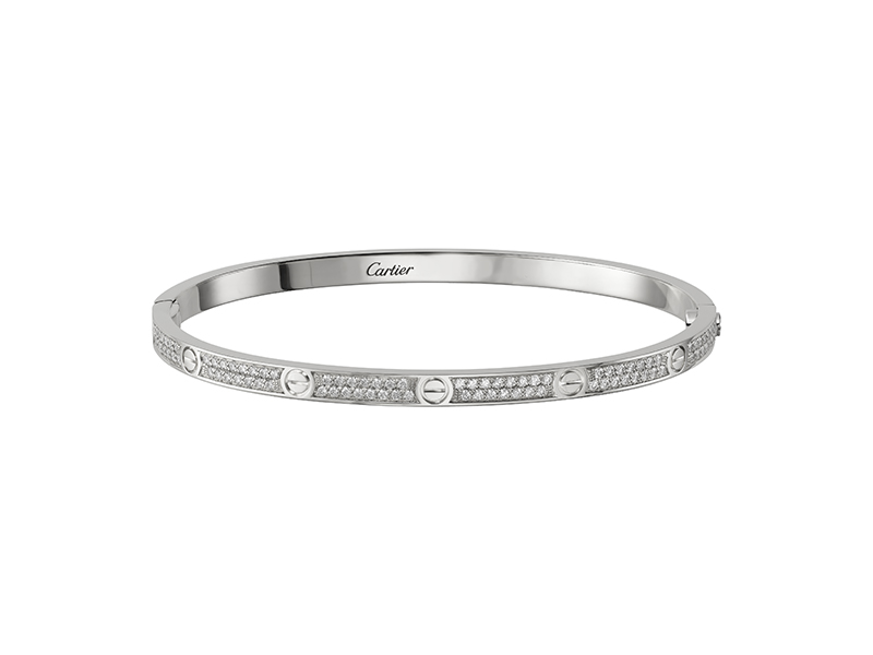 Cartier Love bracelet mounted on white gold with diamonds