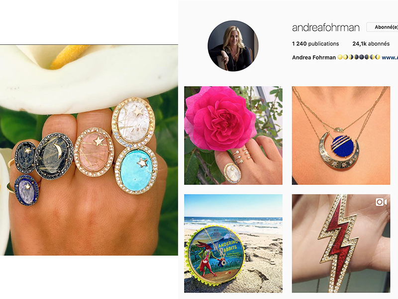 Andrea Fohrman is another Californian designer obsessed about colored stones whose jewelry is made by local artisans between L.A. and New York.  : https://www.instagram.com/andreafohrman/