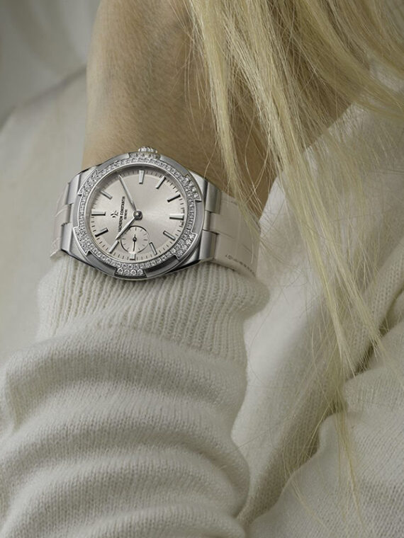 Vacheron Constantin Overseas Watch on white gold with diamonds