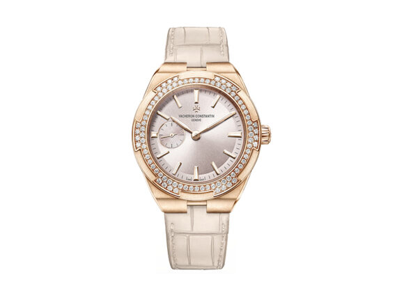 Vacheron Constantin Overseas in pink gold with white diamonds, 37mm