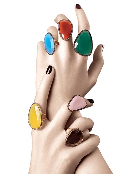 Christina Debs' rings