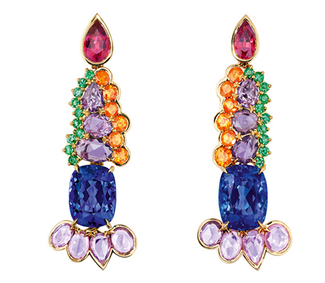 Dior Grand Ville Tanzanite Earrings