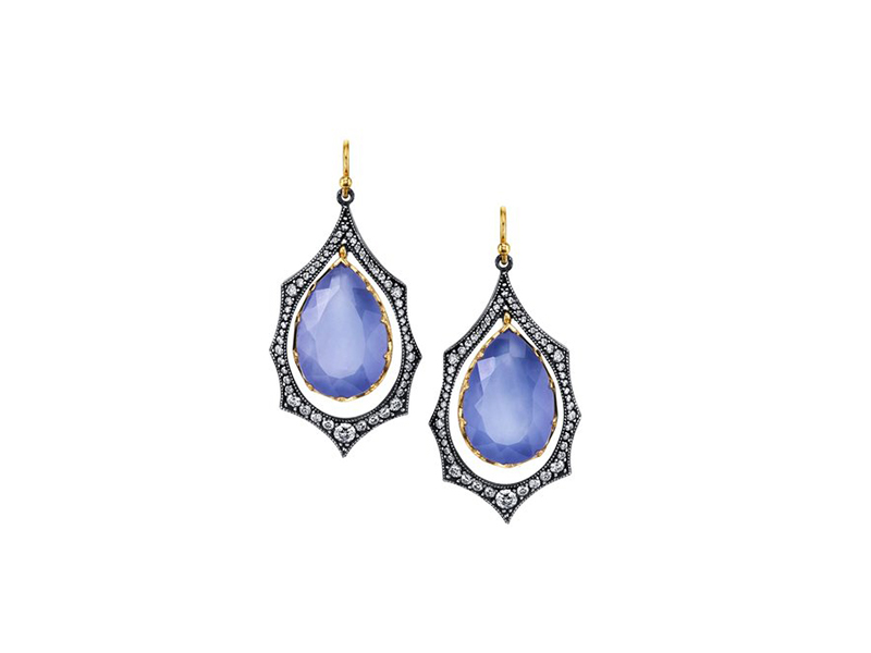Arman Sarkisyan Earrings set with colored stones