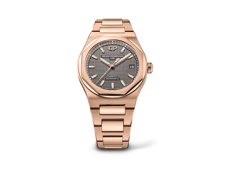 Girard-Perregaux Pink gold Laureato with date indication, 38mm
