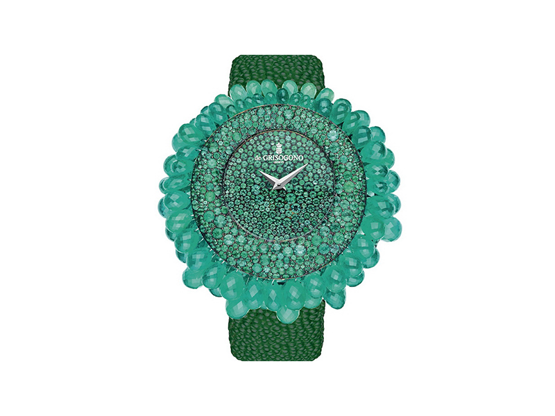 De Grisogono Emerald Grappoli watch