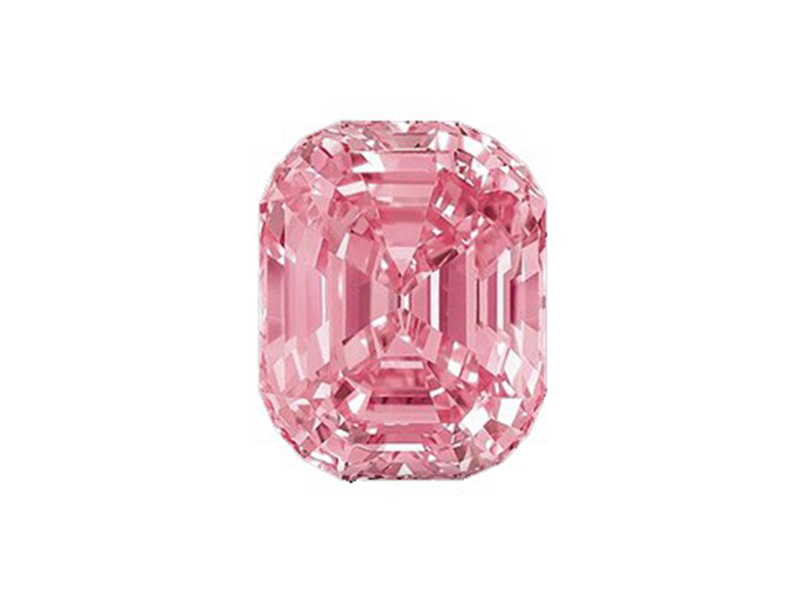 "Graff Pink Certified as "" Fancy intense Pink "" this gem with 24.78 carats was sold for 46 Mio USD."
