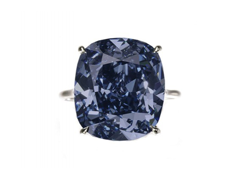 The Blue Moon Of Josephine This amazing blue gem weighting 12.03 carats was discovered in Africa in the Cullinan's mine and was sold for 48.4 Mio Euros.
