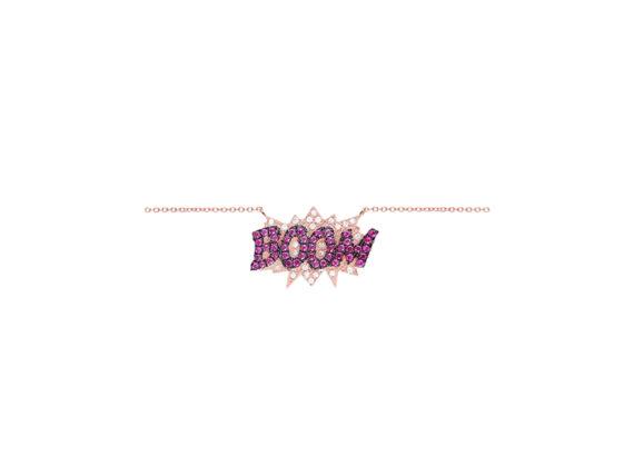 Diane Kordas BOOM necklace with pink sapphire