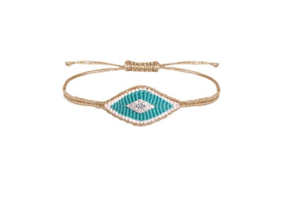 Diane Kordas Evil Eye bracelet with turquoise