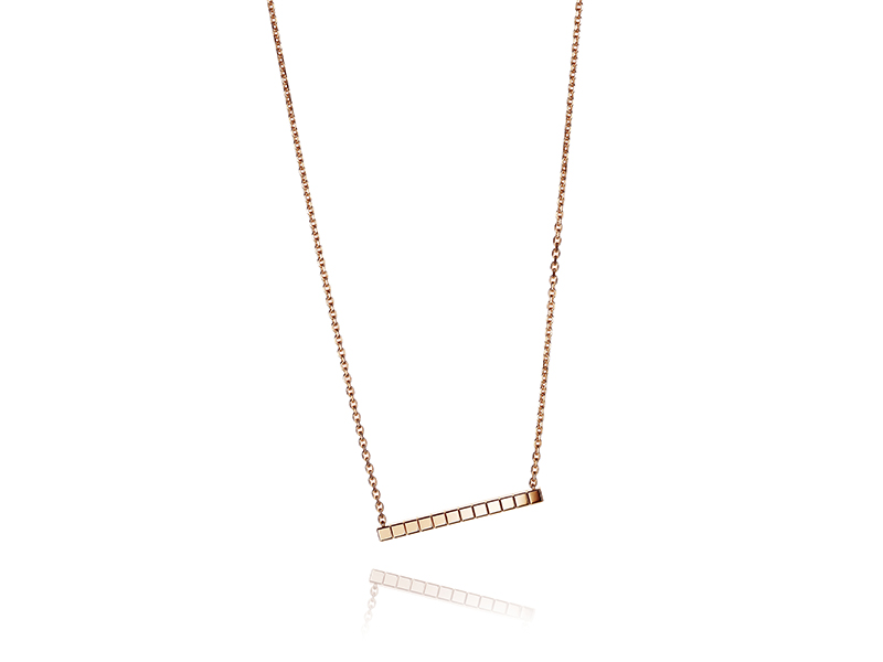 Chopard Ice Cube Pure rose gold necklace