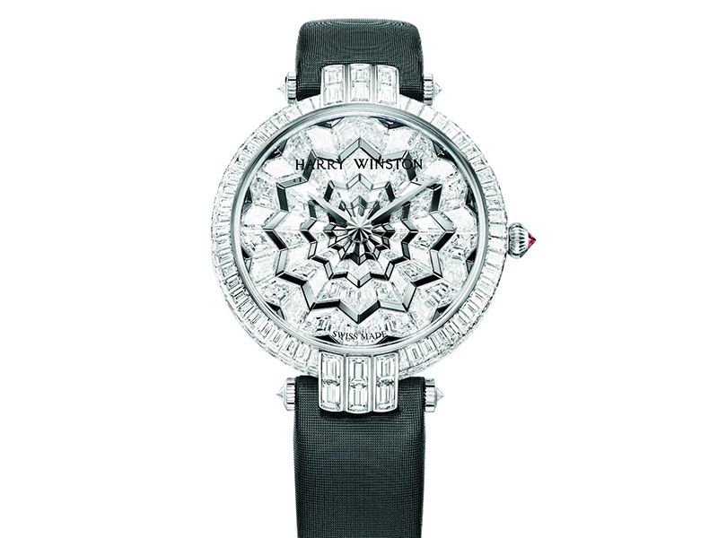 Harry Winston watch with diamonds