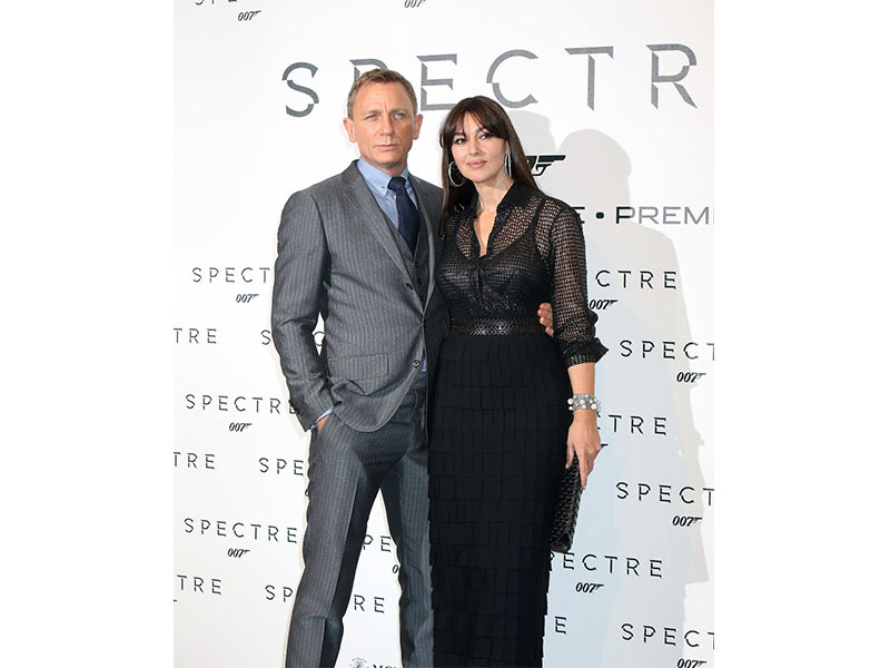 Daniel Craig and Monica Bellucci At the Roma premiere of Spectre - the latest 007