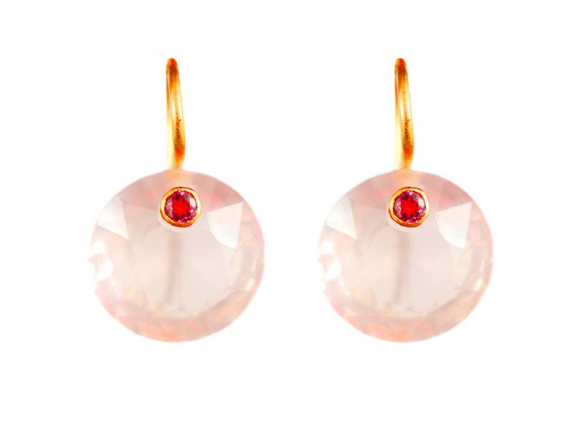 Marie-Helène de Taillac Quartz Rose earrings