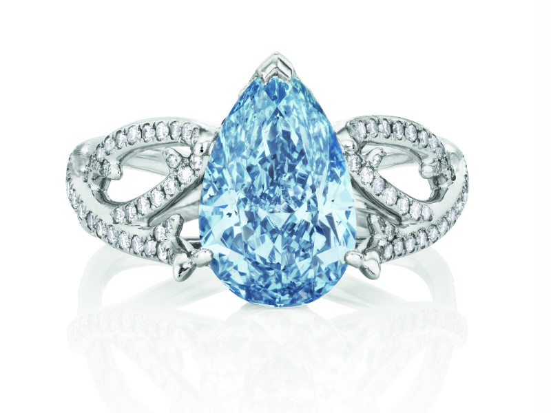 8- De Beers Blue diamonds are exceptionally rare... which makes them the ultimate expression of uniquness. The colorsis a symbol of stability, loyalty and wisdom.