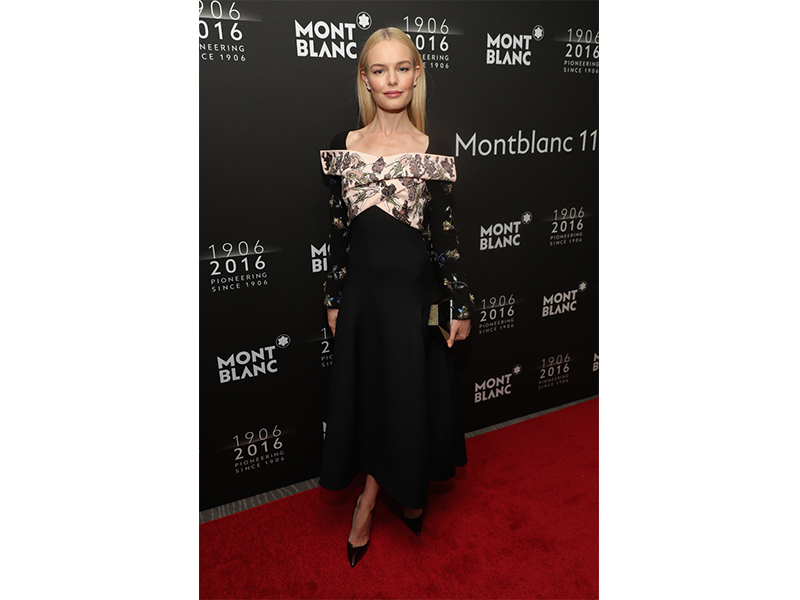 Mont Blanc Kate Bosworth wearing Mont Blanc at the Montblanc 110th anniversary gala dinner in New York