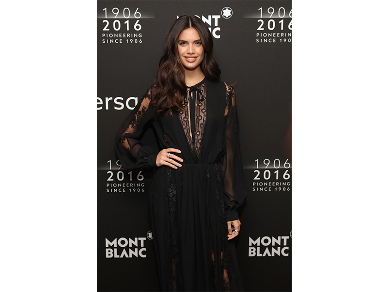 Mont Blanc Sara Sampaio wearing Mont Blanc at the Montblanc 110th anniversary gala dinner in New York