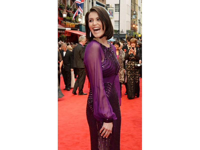 De Grisogono Gemma Arterton wearing Gocce earrings at the Olivier awards in London